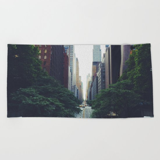 City Park New York 4 Beach Towel