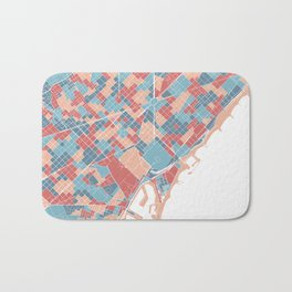 Colorful Barcelona map Bath Mat