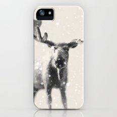 winter moose Slim Case iPhone (5, 5s)