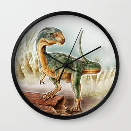 Lost dinosaur Wall Clock