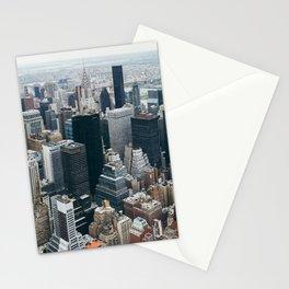 Manhattan Skyline in Midtown vintage photo Stationery Cards