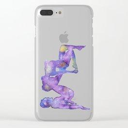 AcroYoga Nebula Clear iPhone Case