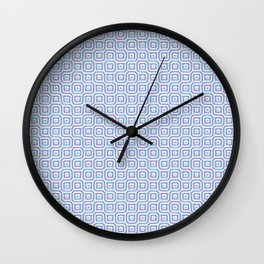 Geometric Mosaic Connections Wall Clock