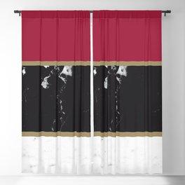 Marble Mix Stripes #2 #black #white #red #gold #decor #art #society6 Blackout Curtain