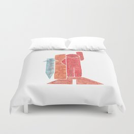 Warrior - Abstract minimalist people 2 Duvet Cover