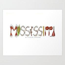 StarkVegas - Mississippi State Art Print