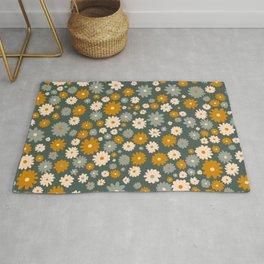 Petite Vintage Floral Print Rug