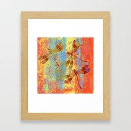 A Dragonflies QQW Framed Art Print