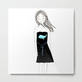 Little black dress Metal Print