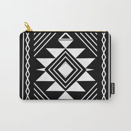 Aztec boho ethnic black and white Carry-All Pouch