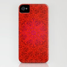 rashim red lace mandala iPhone (4, 4s) Slim Case