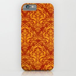Halloween damask colors #2 iPhone Case