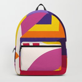 Abstract modern geometric background. Composition 14 Backpack