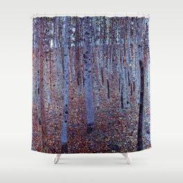 """Beech Forest"" Gustav Klimt Shower Curtain"