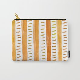 Watercolor lines - light orange Carry-All Pouch