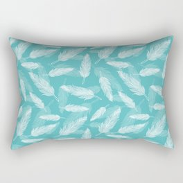 Seamless feathers pattern Rectangular Pillow