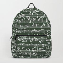 Hand Written Sheet Music // Timber Green Backpack
