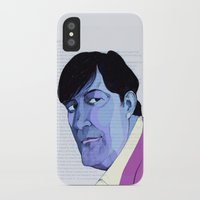 stephen king iPhone & iPod Cases featuring Stephen Fry by Mirco