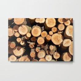 Woodpile Metal Print