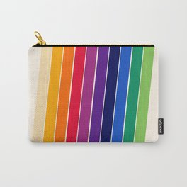 Awe Yeah - 70s style retro throwback 1970s rainbow colorful trendy graphic art Carry-All Pouch