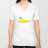submarine V-neck T-shirts featuring Yellow Submarine by Tali Rachelle