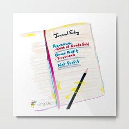 Journal Entry Accounting Art Metal Print