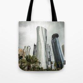 doha skyline Tote Bag
