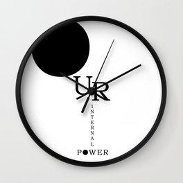 Our Internal Power. Ur Internal Power Wall Clock