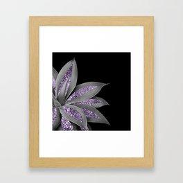 Agave Finesse Glitter Glam #3 #tropical #decor #art #society6 Framed Art Print