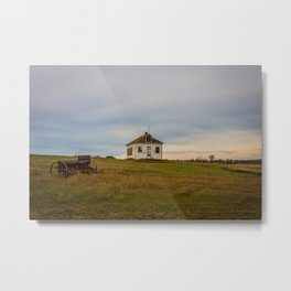 Antelope School, Stark County, North Dakota Metal Print