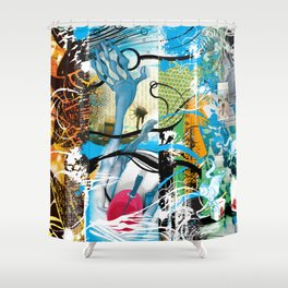 Exquisite Corpse: Round 2 Shower Curtain