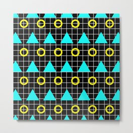 Retro Minimalistic Art Pattern Metal Print