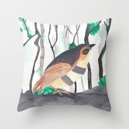 Oh, Nightingale Throw Pillow