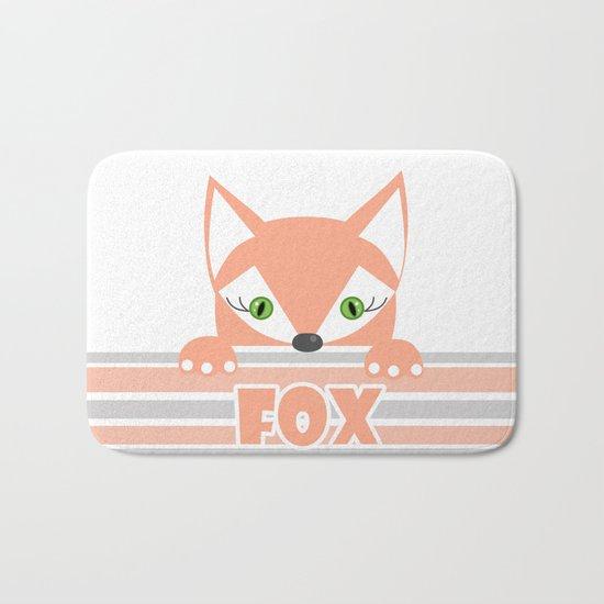 Little curious Fox . Bath Mat