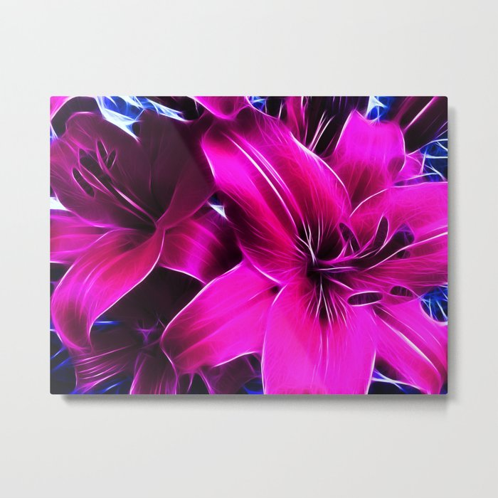Lily the Pink Metal Print