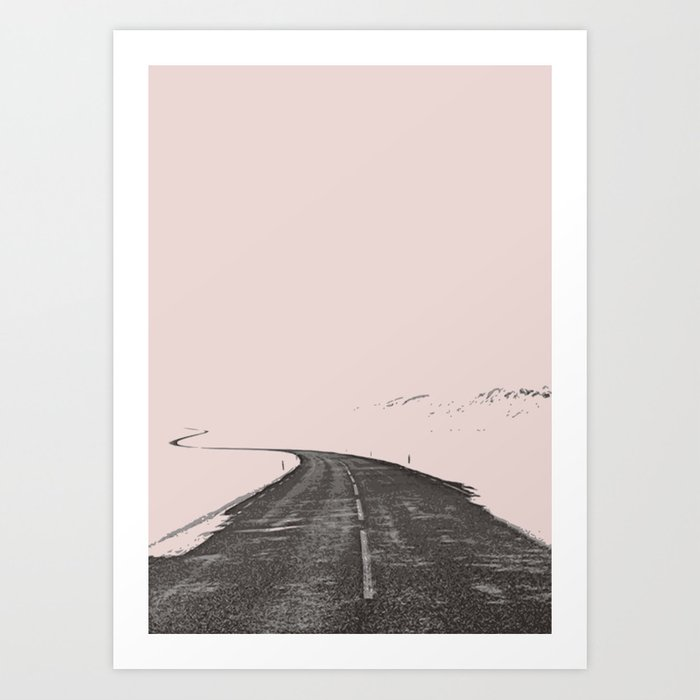The road less travel Art Print