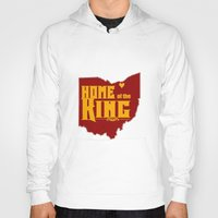 lebron Hoodies featuring Home of the King (Yellow) by Denise Zavagno