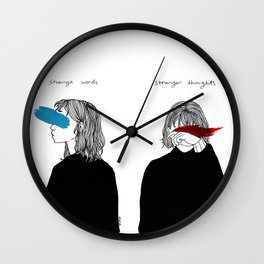 Strange Words, Stranger Thoughts Wall Clock