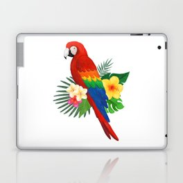 Tropical Macaw Floral Watercolor Laptop & iPad Skin