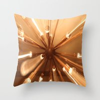 chandelier Throw Pillows featuring chandelier by Chris Cooch