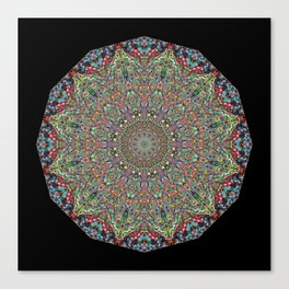 Mexican Difference Mandala Canvas Print