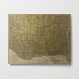 Toronto, Vintage City Map c.1908 Metal Print