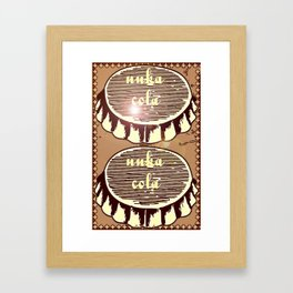nuka cola bottlecaps -fallout games inspired Framed Art Print