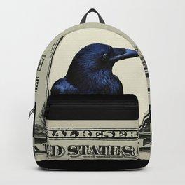 One Dollar Bill Black Raven #society6 Backpack