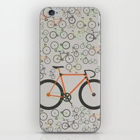 brompton iPhone & iPod Skins featuring Fixed gear bikes by Wyatt Design