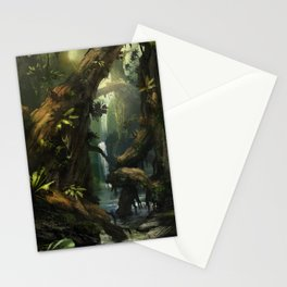 Realm of the Giant Trees | Concept Art Personal project Stationery Cards