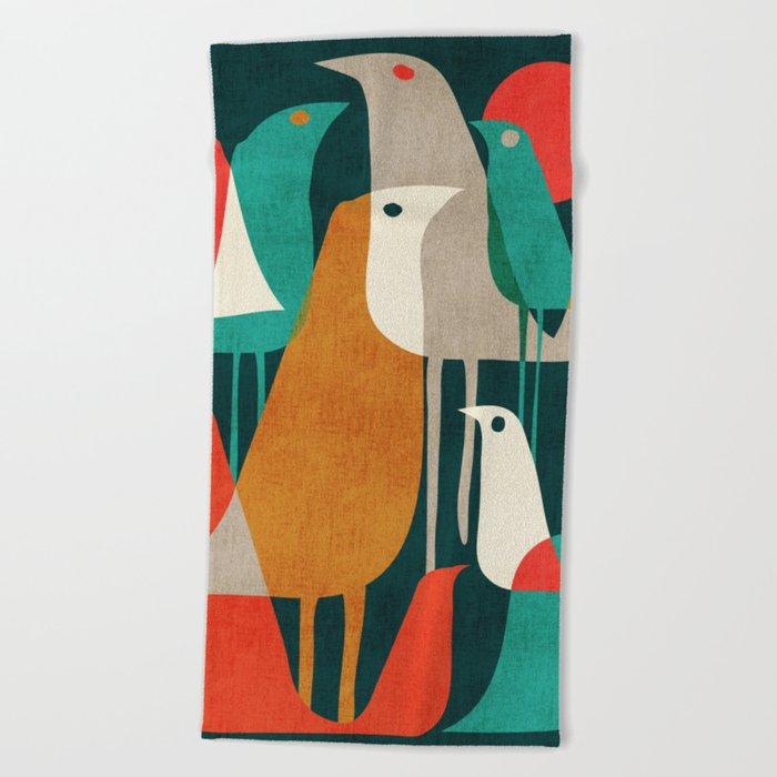 Flock of Birds Beach Towel