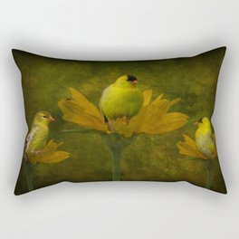 A Family of Goldfinch Rectangular Pillow