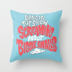 Lying in the snow screaming... Throw Pillow