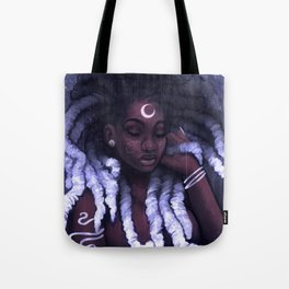 His Afrofutro Moon Tote Bag